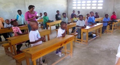 Photo showing one of the classrooms provided by the Atlanta Church Group